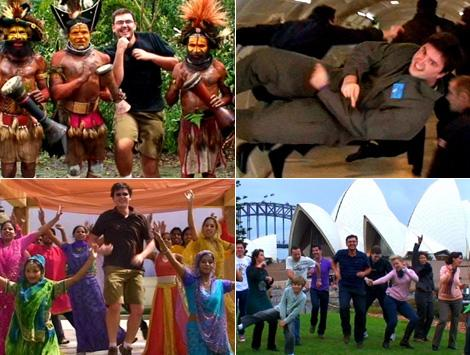 Танцующий путешественник Мэтт (Matt Harding) видео