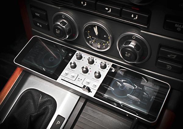 Портативный диджей пульт Portable DJ в автомобиле