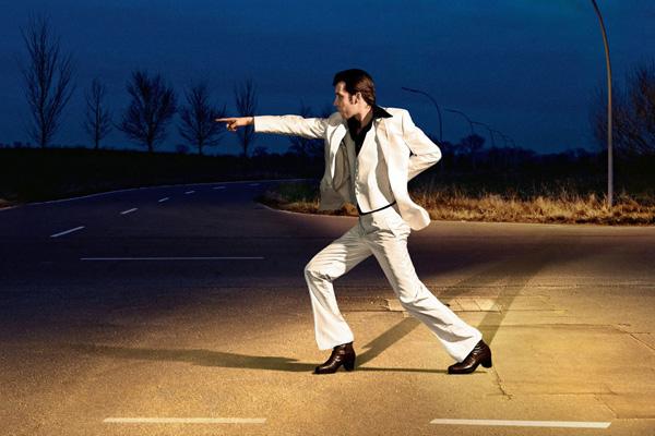 Танец на дороге.