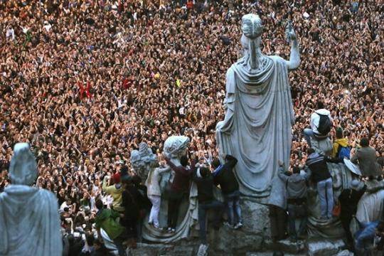 Рекордный флешмоб в Риме
