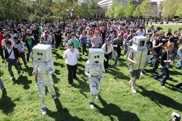 Подстили поппинга: танец робота