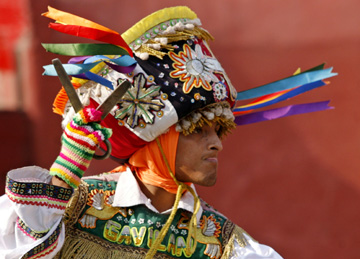 Перуанский танец с ножницами