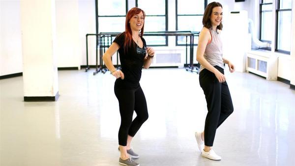 Обучение шагам в танце