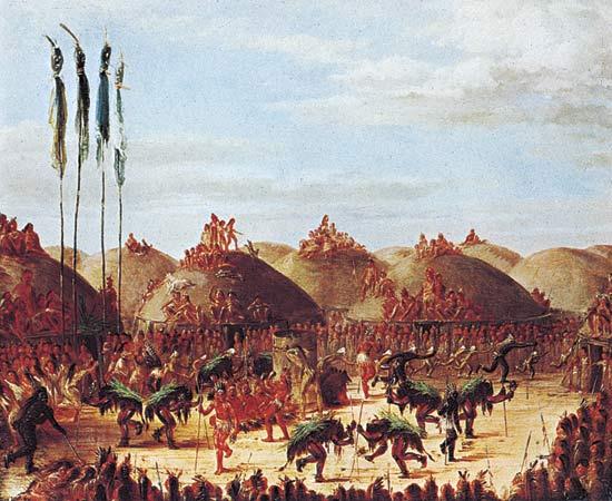 Священная индейская церемония - танец буйвола