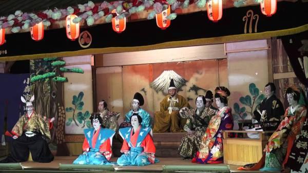 Сцена кабуки