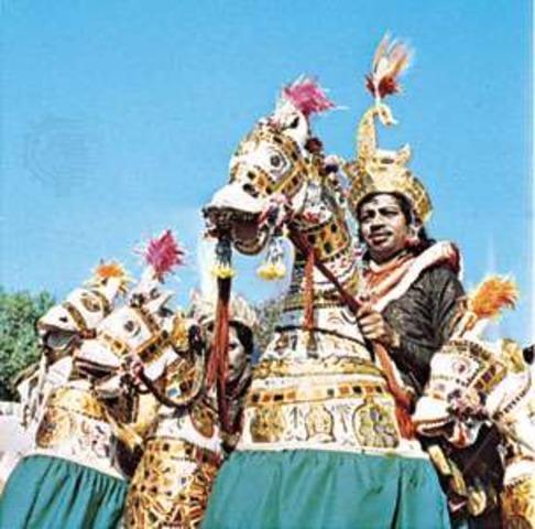 Танцоры Качи-гори в Раджастане, Индия