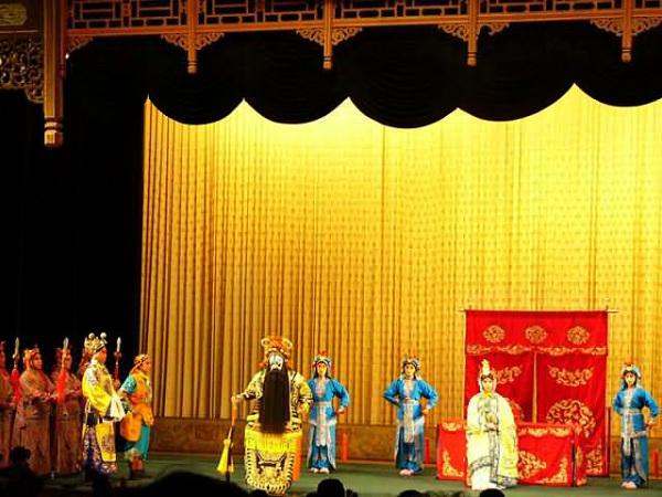 Сцена в пекинской опере