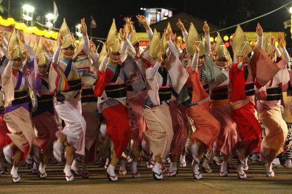 Необычные танцы планеты: ава-одори