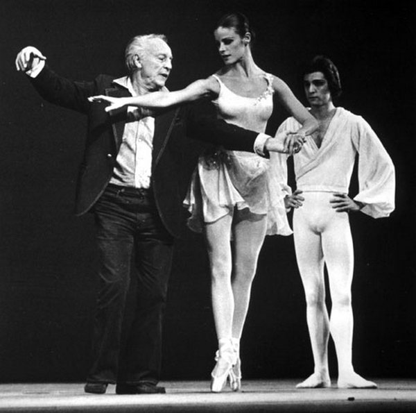 Джордж Баланчин в танцклассе