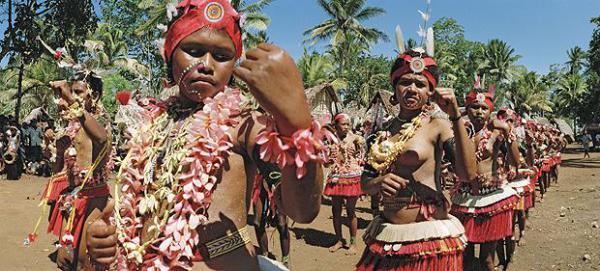 Танцы папуасов