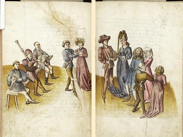 Средневековые танцы - артефакты искусства
