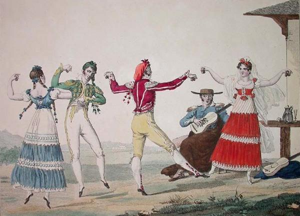 Танец с испанскими корнями.
