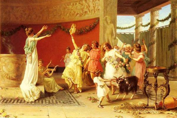 Танцы в древней Греции