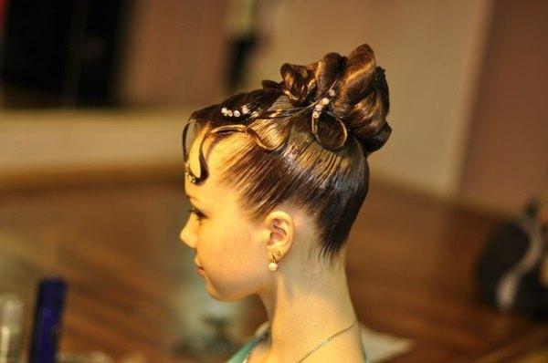 Причёски из пучка фото
