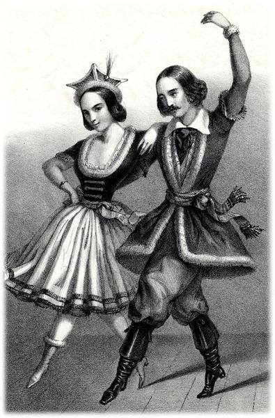 Социальные танцы в 19 веке