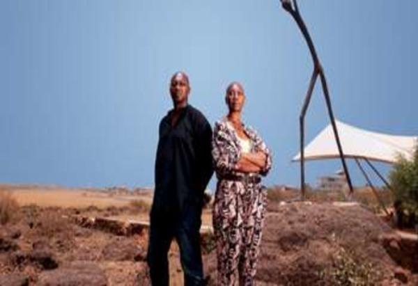 Патрик Аконьи с матерью - хореографом Жермен Аконьи