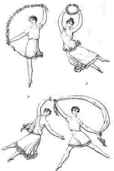 Зарисовки Карло Блазиса в руководстве по танцам