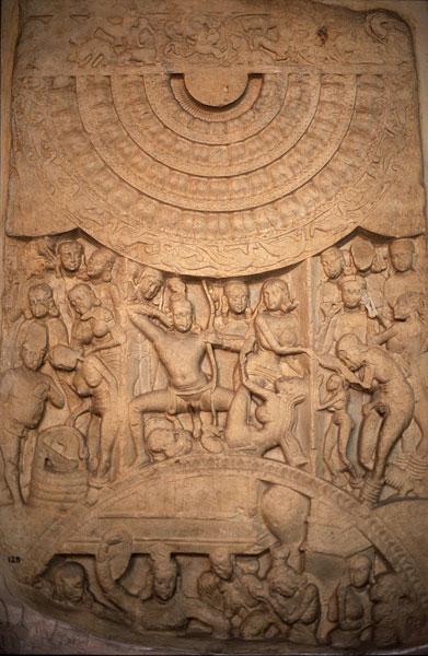 Барельеф с классической позой танцоров, 1-2 век