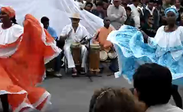 Маримба - танец чернокожих эквадорцев