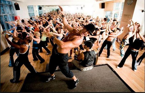 Тренировка в стиле зумба